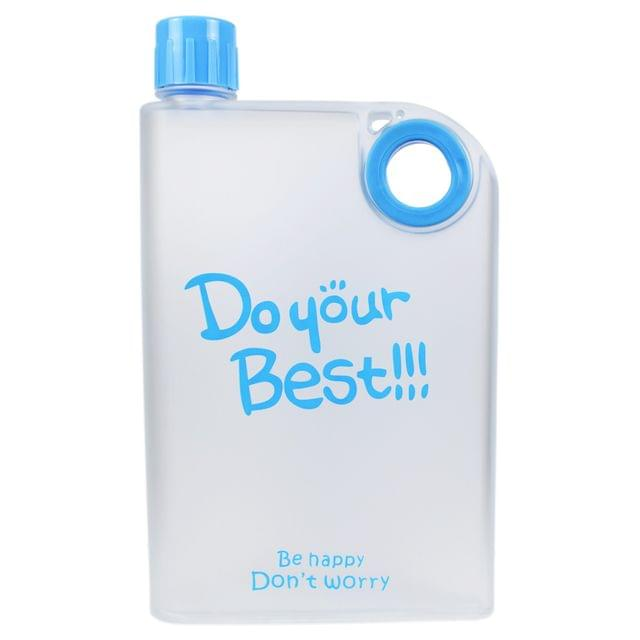 Myesha Home A5 Notebook Shaped Portable Transparent Water Bottle 380 ML