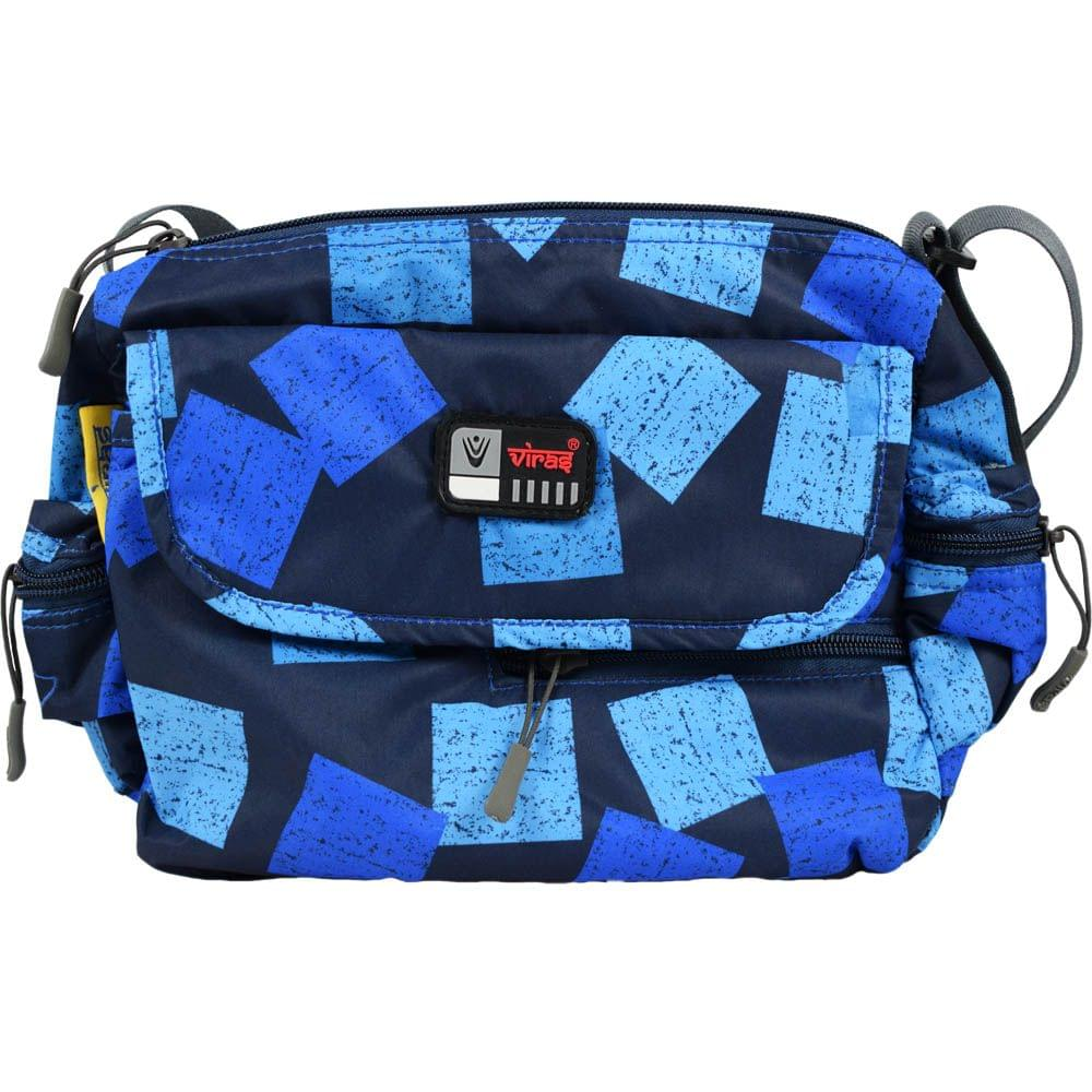 Viraz Teflon Coated Waterproof Sling Bag, Blue