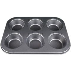 Myesha Home 6 Pcs Non Stick Muffin Cup Cake Tray Design 1