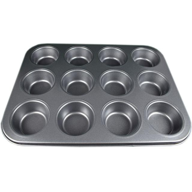 Myesha Home 12 Pcs Non Stick Muffin Cup Cake Tray Design 1