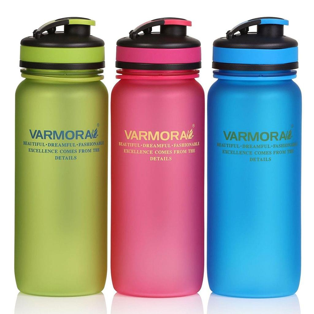Varmora Splash Tritan Water Bottle Set, 650ml, Set of 3, Multicolour