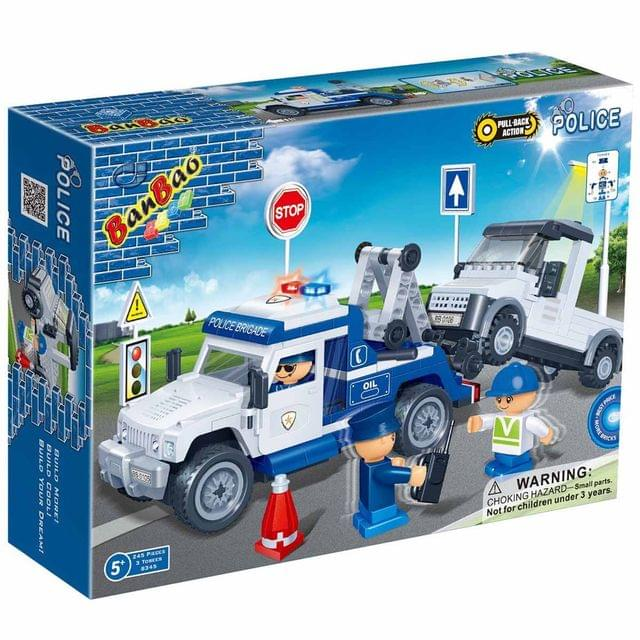 Banbao Building Blocks Police Series Tow Truck, Multi Color