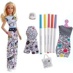 Barbie Crayola Color In Fashion Doll, Multi Color