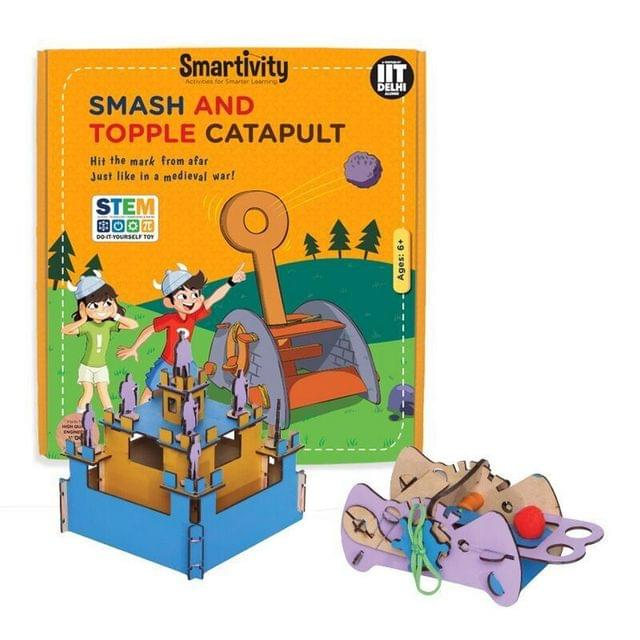 Smartivity Smash and Topple Catapult, Multi Color