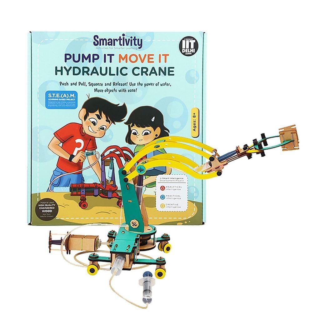 Smartivity Pump It Move It Hydraulic Crane, Multi Color