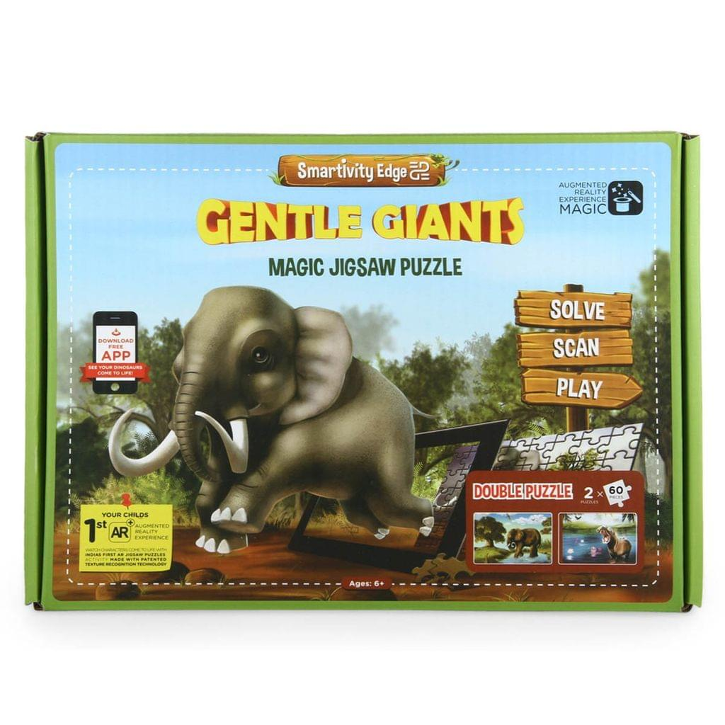 Smartivity Edge Gentle Giants Magic Jigsaw Puzzle, Multi Color