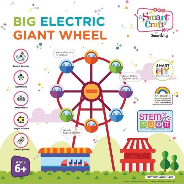 Smartivity Big Electric Giant Wheel, Multi Color