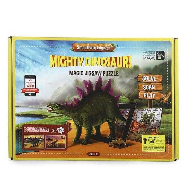 Smartivity Edge Mighty Dinosaurs Magic Jigsaw Puzzle, Multi Color