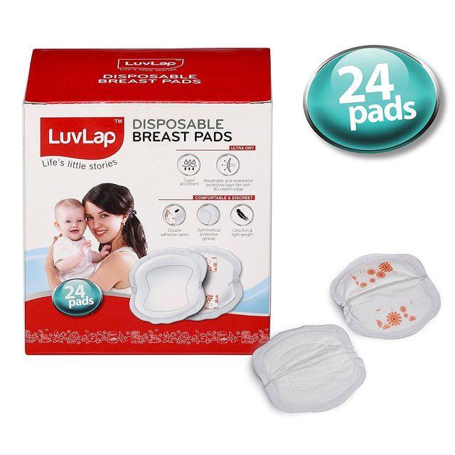 LuvLap Disposable Breast Pads, 24 pcs