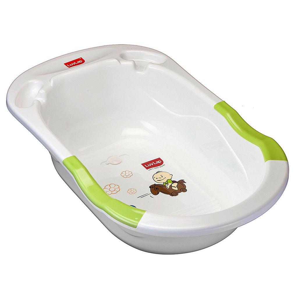 LuvLap Baby Bubble Bathtub, Green Color