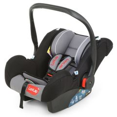 LuvLap Infant Baby Car Seat Cum Carry Cot and Rocker, Black Color