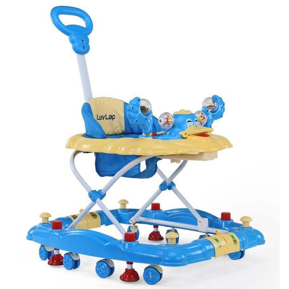 LuvLap Comfy Baby Walker, Blue Color