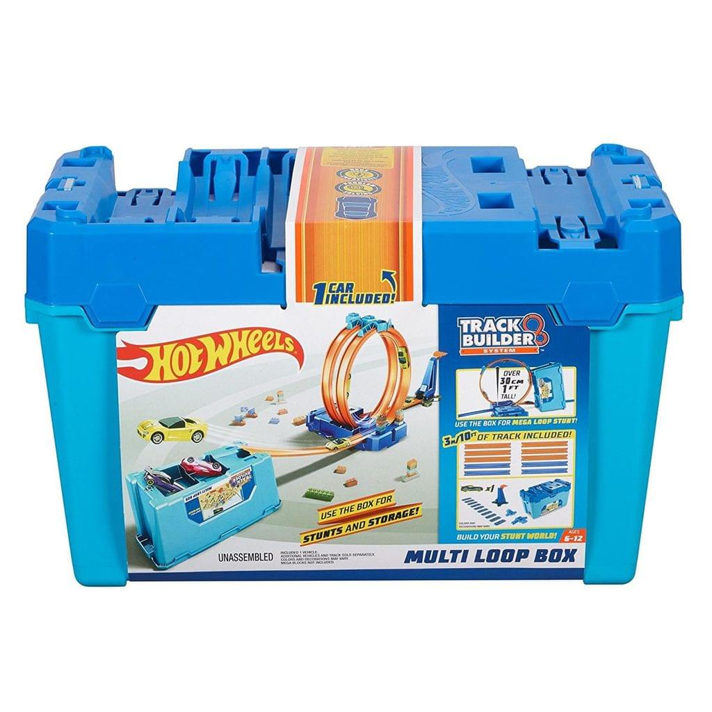 Hot Wheels Track Builder Multi Loop Box, Multi Color