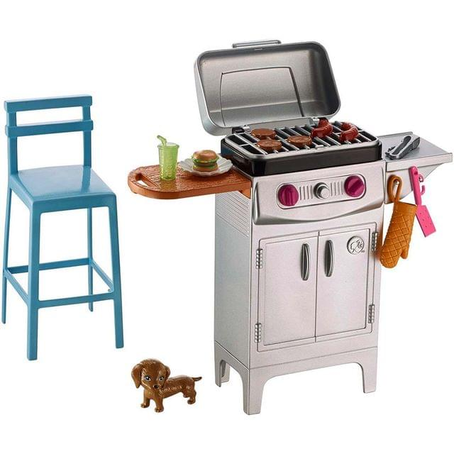 Barbie Furniture and Accessories Barbique Grill Playset, Multi Color