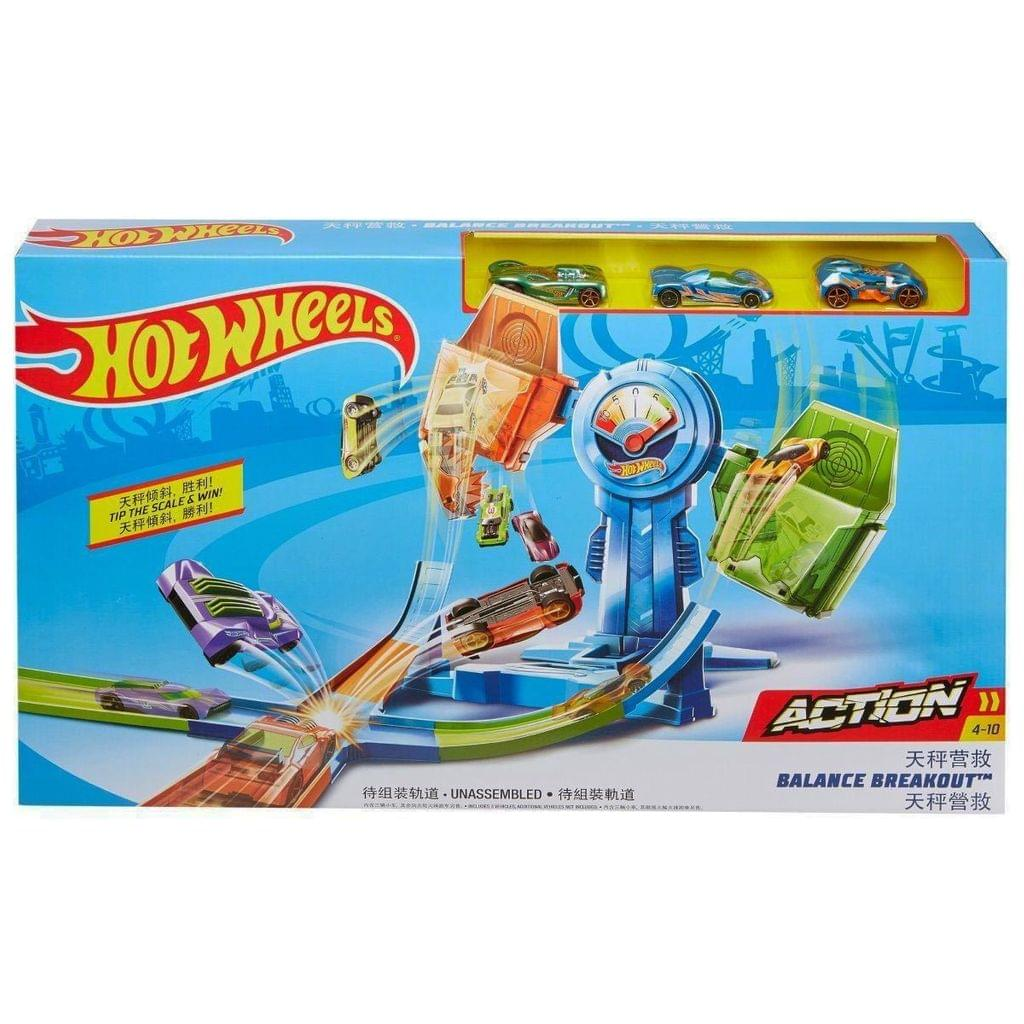 Hot Wheels Balance Breakout Playset, Multi Color with FREE Justice League 6 Inch Action Figure worth Rs. 399, Limited Stocks, Hurry !!!