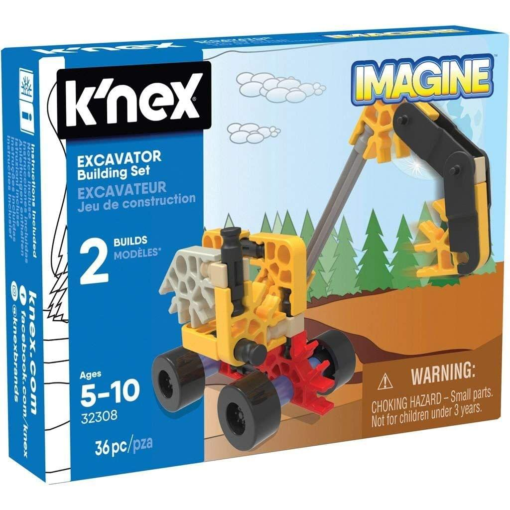 K'Nex Imagine Excavator Building Set, Multi Color