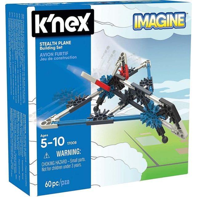 K'Nex Imagine Stealth Plane Building Set, Multi Color