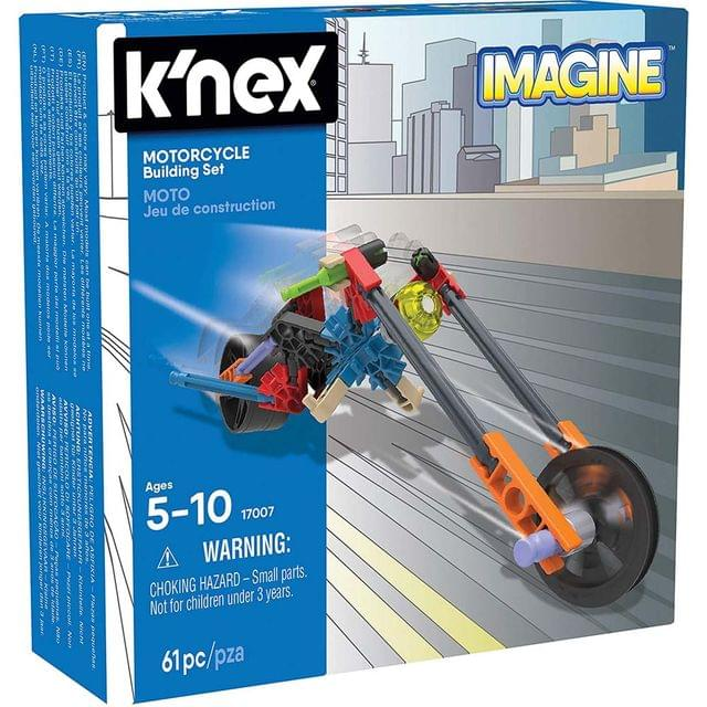 K'Nex Imagine Motorcycle Building Set, Multi Color