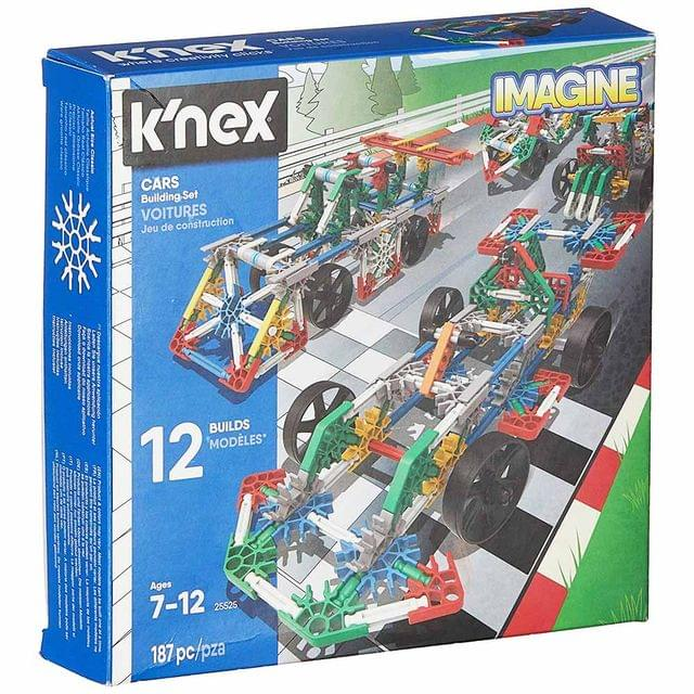 K'Nex Imagine 12 Model Cars Building Set, Multi Color