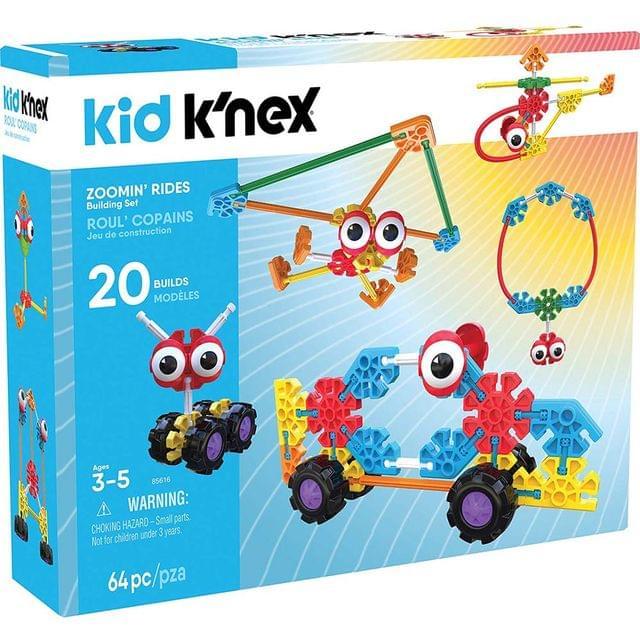 Kid K'nex Zoomin Rides Building Set, Multi Color