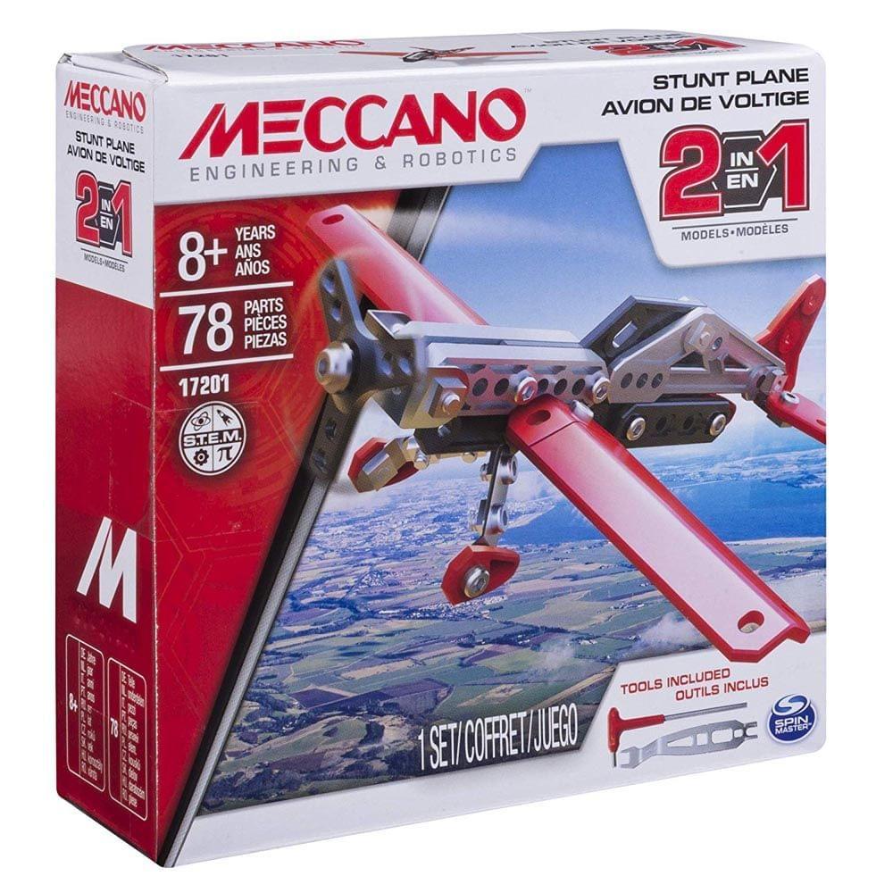 Meccano 2 In 1 Model Stunt Plane, Multi Color