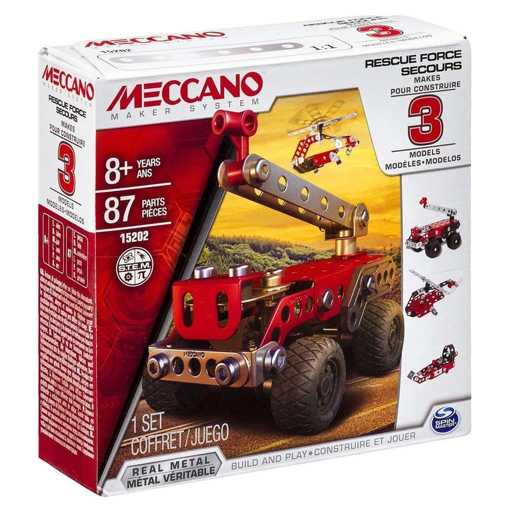 Meccano 3 In 1 Model Rescue Squad, Multi Color