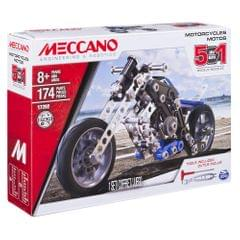 Meccano 5 In 1 Model Motorcycle Set, Multi Color