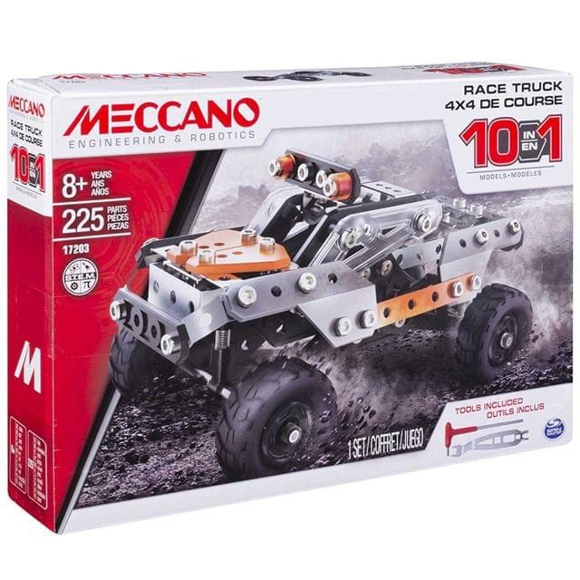 Meccano 10 In 1 Model Race Truck, Multi Color