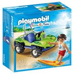 Playmobil Surfer with Beach Quad, Multi Color