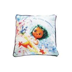 Light Blue Fairy Cushion Cover