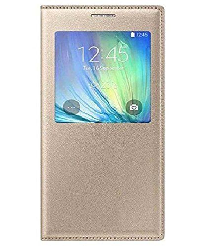 Samsung Galaxy On5 Leather Window Flip Stand Back Case Cover