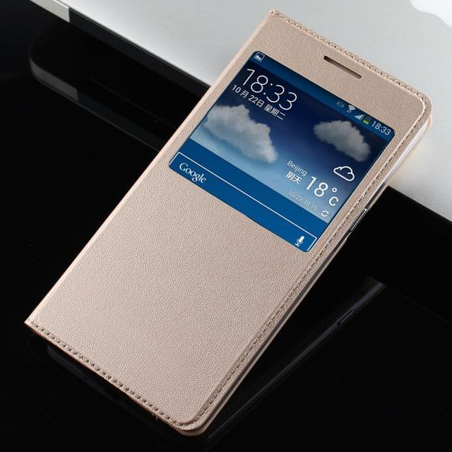 Samsung Galaxy Grand Prime Leather Window Flip Cover Case