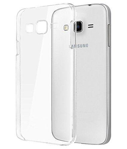 Samsung Galaxy  On5 Premium Transparent clear white Silicon Flexible Soft TPU Slim Back Case Cover