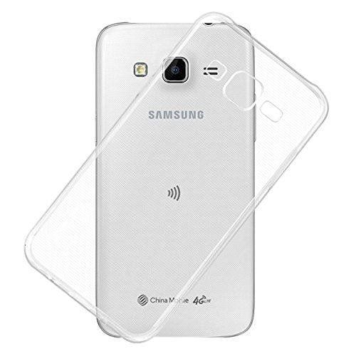 Samsung Galaxy On7 Premium Transparent clear white Silicon Flexible Soft TPU Slim Back Case Cover
