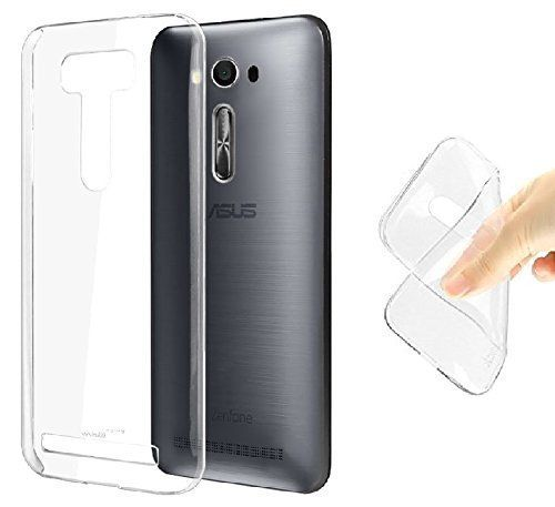 Asus Zenfone 2 Transparent Soft Ultra Slim Back Cover