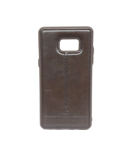 Samsung Note7  Piere Carden Back Lather Case  (Brown)