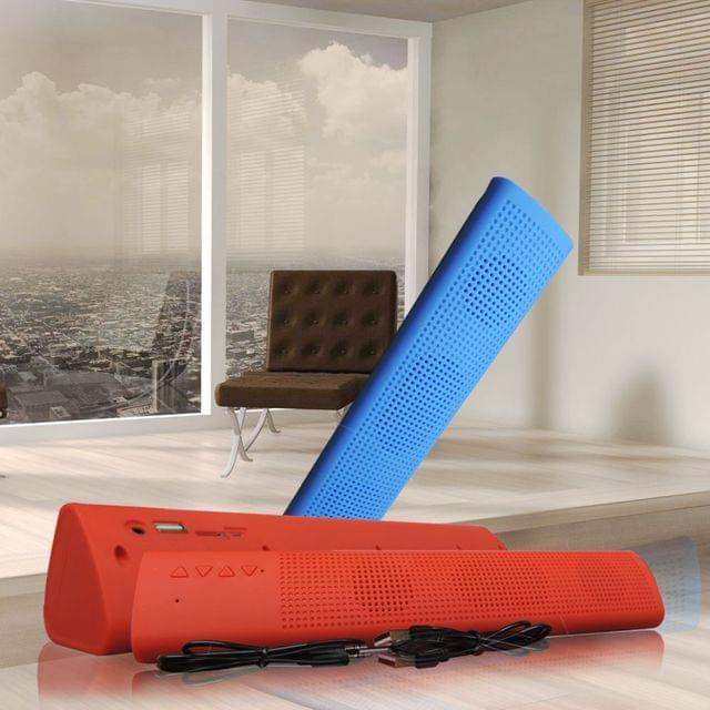 Explore The Music By Portable Digital Bluetooth Speaker K9- (Blue)