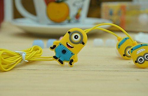 Pinglo Despicable Me Minions Style 3.5mm Plug in-Ear Earphone with Clip