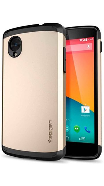Google Nexus 5 Spigen SGP10560 Ultra Fit Premium SF Coated Matte Hard Case-Gold