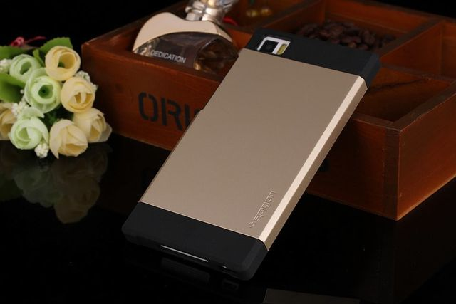 uk availability fb6ef f6087 Xiaomi Mi3 Spigen Sgp Slim Armor Case Back Cover-Gold