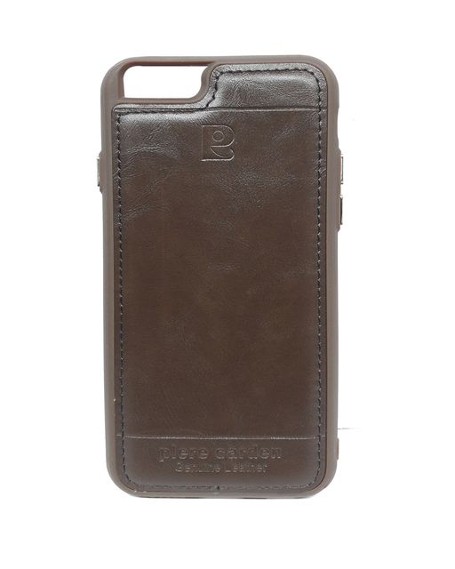 iphone 6 & 6s Piere Carden Luxury Back Lather Case (Brown)