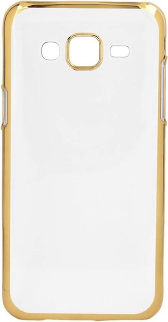 Samsung Note 4     Transparent Silicon Back Cover Side Golden Border