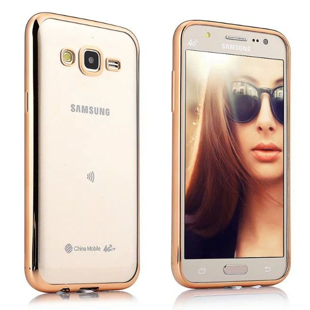 SamsungJ2 Pro     Transparent Silicon Back Cover Side Golden Border