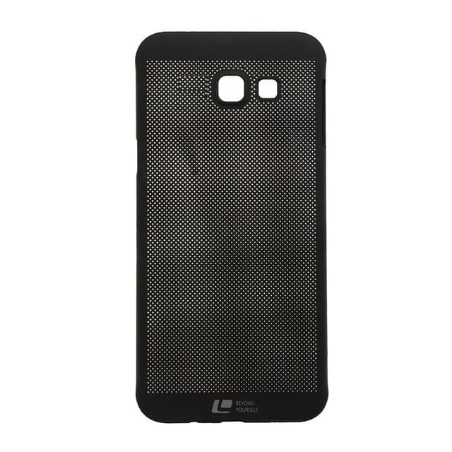 Samsung A7-2016  Loopee metal-effect Heat Dissipation Hollow Thin Case Cover  -Black