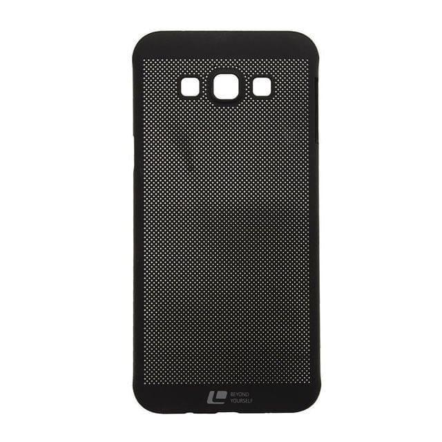 Samsung Galaxy J7 2016 Loopee metal-effect Heat Dissipation Hollow Thin Case Cover-Black