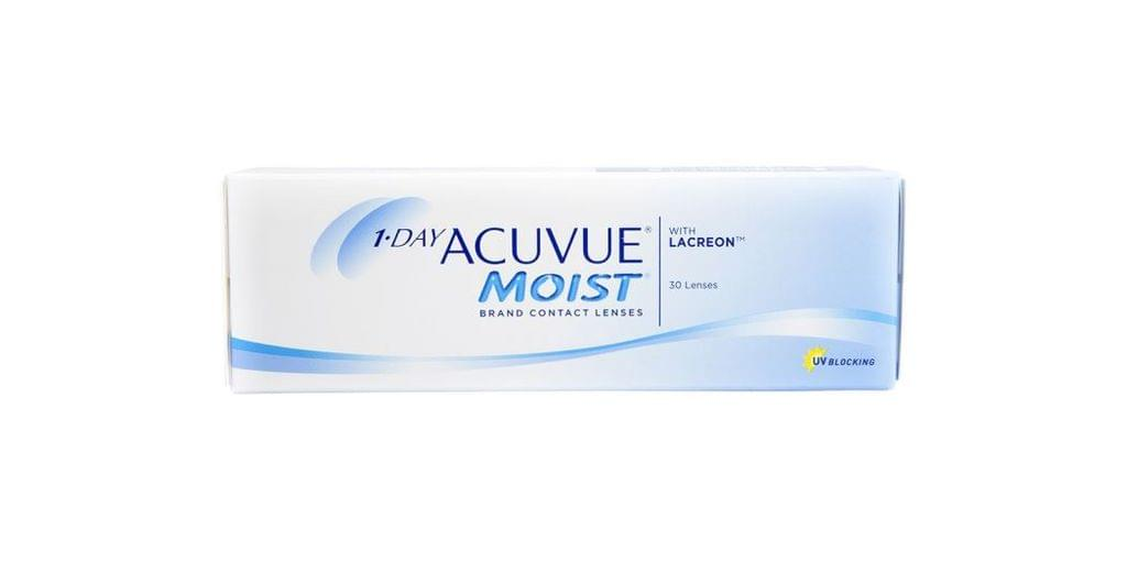 JOHNSON & JOHNSON ACUVUE MOIST (30 LENSES/BOX)