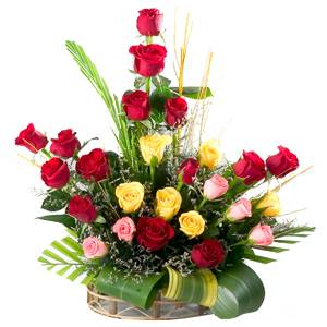 Mixed flower basket for your mixed emotions