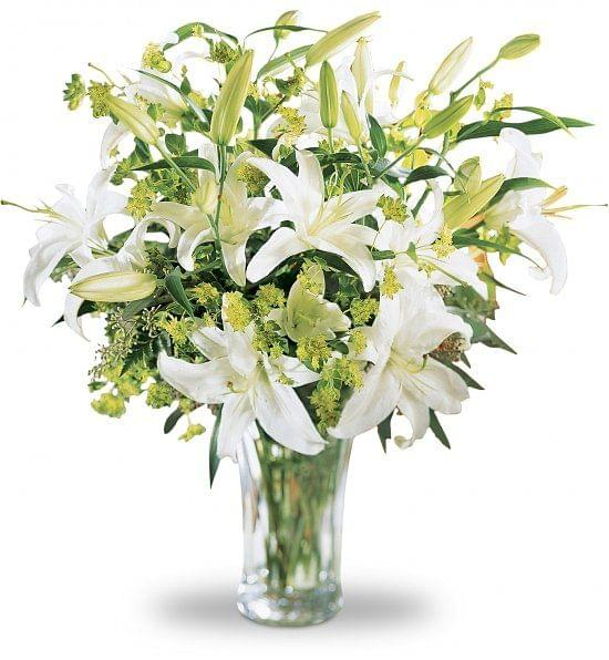 white lilies flower bunch