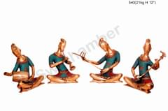 Brass 4 piece Musical Set - men - Inlay