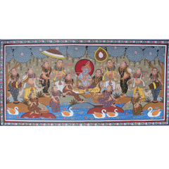 PattaChitra - Radha Krishna Raas Leela -  Coloured